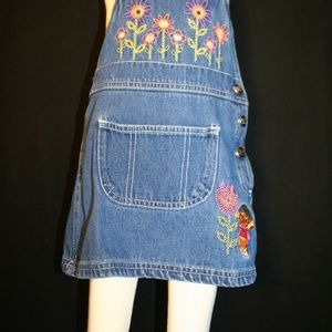 Viacom Dresses Dora The Explorer Girls 2t Denim Overall